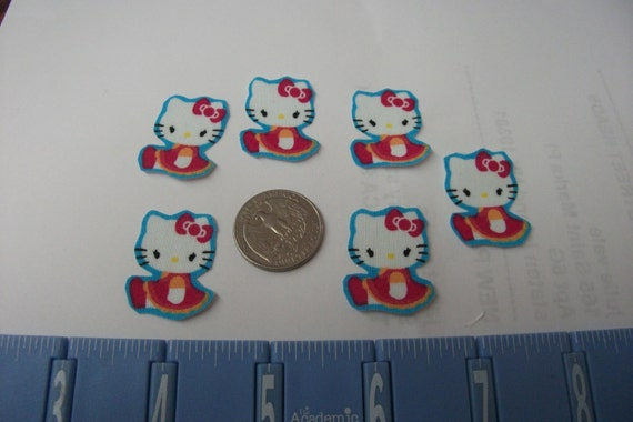 Nice set of cute Hello Kitty iron on appliques