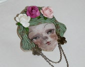 PIN CATRINA IN FLOWER color Mint