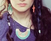 Earrings CUTE CARA color Mint/reef