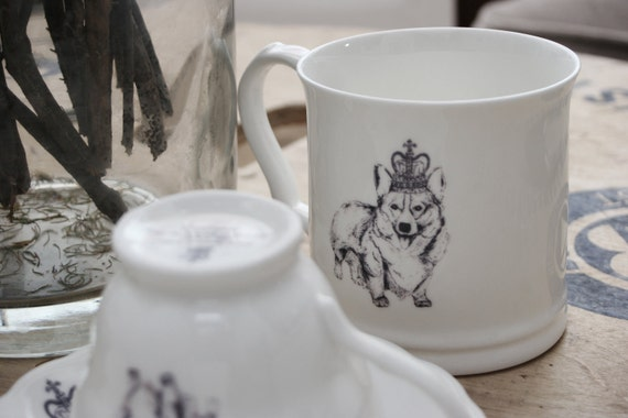 Made To Order Diamond Jubilee Royal Corgi Mug