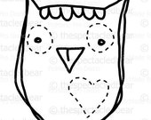 Items Similar To PRINTABLE Wise Cute Owl Coloring Page
