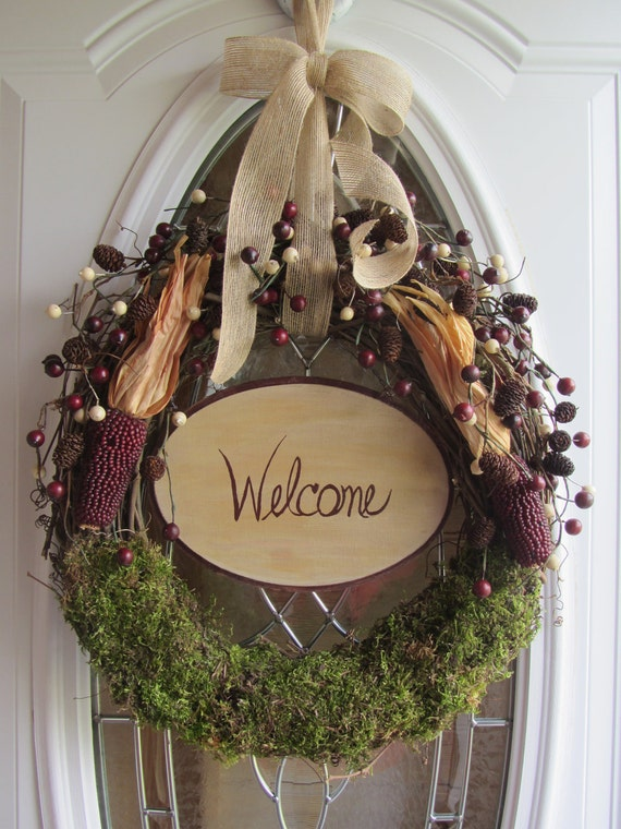 Summer Wreath Door Wreath Grapevine Wreath By