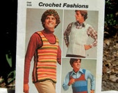 Crochet Pattern for Men's Pullover Vests (1972)