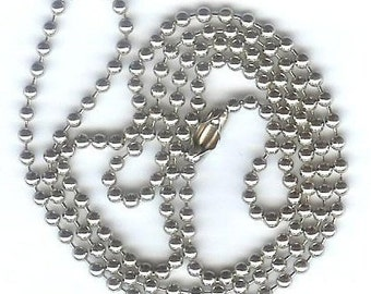 "24"" Nickel Plated Ball Chains, 5 per Pack, Lanyard Supplies"
