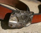 Rising Sun Bicycle Cog Belt Buckle