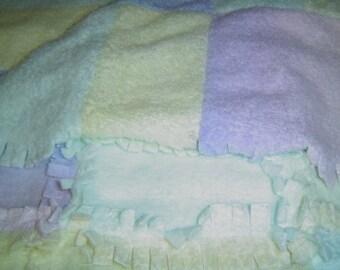 Pastel Colored Shag Blanket