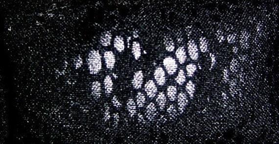 Black Snake Skin Print Bean Bag