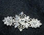 Vintage clasp,wedding dress rhinestone crystal clasp closure,crystal clasp,sash clasp closure button