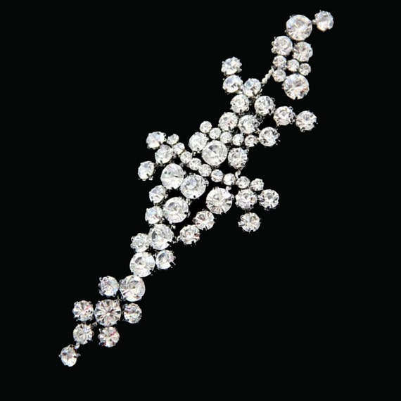 Wedding applique,wedding chain,Rhinestone chain,Crystal chain,Hair craft - nothing at back