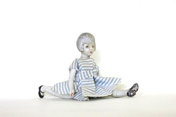 I'm Flexible - 5x7 Print Antique Bisque Doll Fine Art Photograph