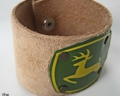 John Deere Leather & Tin bracelet