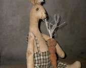 Primitive Harey The Rabbit E- Pattern....Instant Download    (SALE)