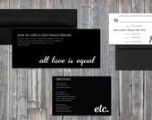 Vintage Equal Invitation Set For JAY