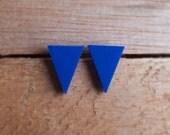 Triangle Studs - Blueberry