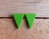 Triangle Studs - Apple