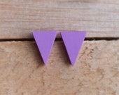Triangle Studs - Violet