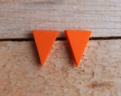 Triangle Studs - Mandarin