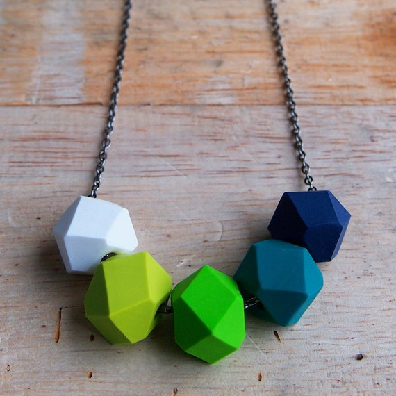 Green with Envy Geo Pop Necklace
