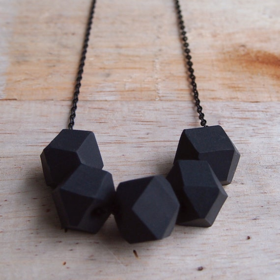 Liquorice Geo Pop necklace