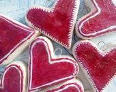 50 set - Wedding favors wedding decor burgundy heart ornaments like cookies
