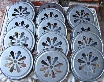 Daisy Cut Mason Jar Lids - 12   Lids--DLP-12