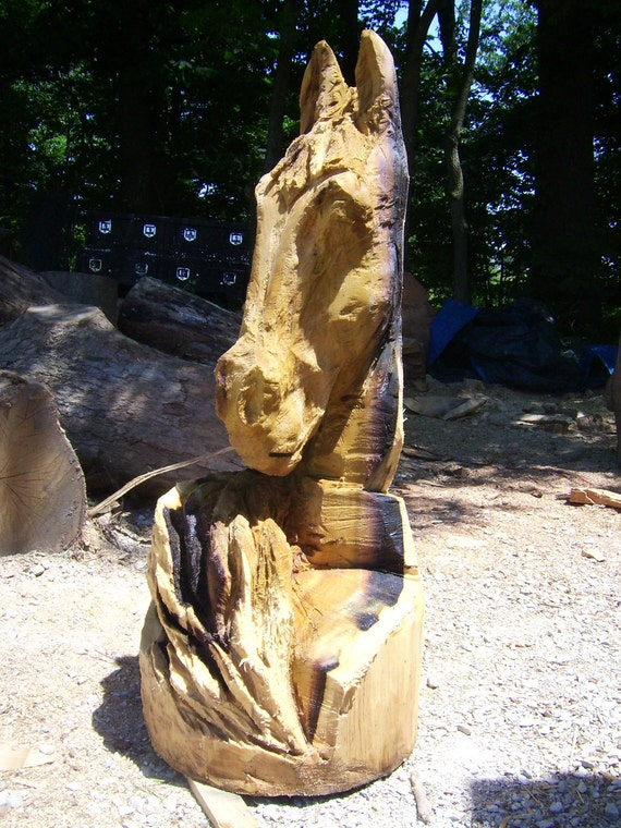 Items similar to chainsaw carving horse on etsy