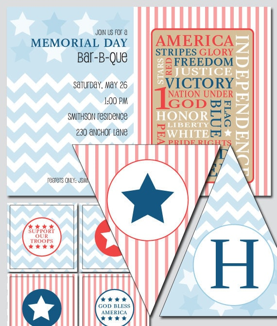 American Theme Invitation and Decoration