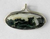 landscape agate pendant