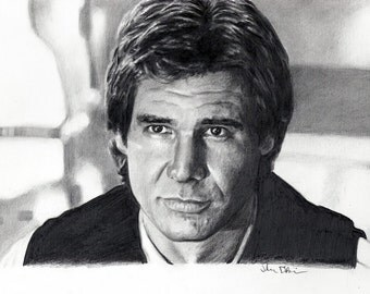Han Solo (Harrison Ford) Drawing Print