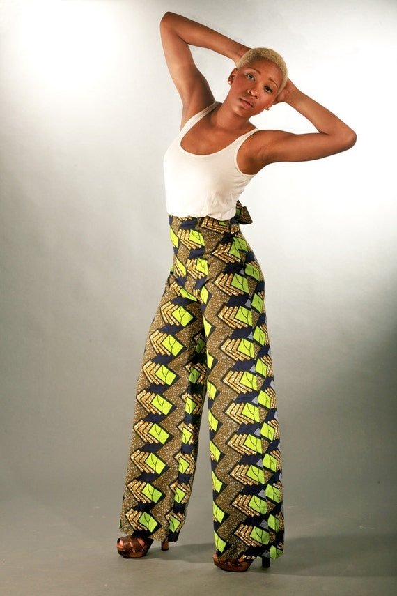Green Printed Cotton Trouser