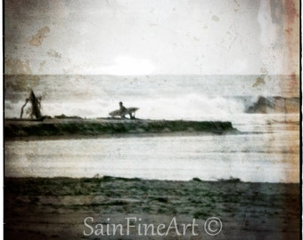 "Last Wave -  Surf Art - Fine Art Photography 8""X8"""