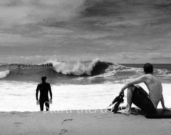 "The Wedge - Surf Art - Fine Art Photography 10""X5"" - Wall Decor"