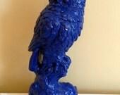 Decorative Blue Owl Statue