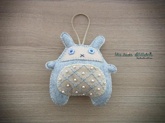 Bunny Plush Toy - Stuffed bunny - Kawaii plush - Grey bunny Messenger rabbit soft toy - READY TO SHIP