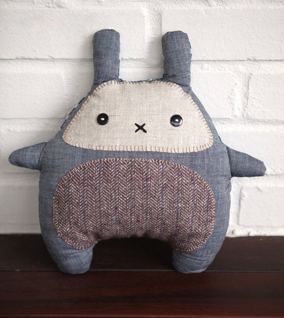 Bunny Plush Toy - Soft toy - Stuffed Animal - Kawaii Zakka Plush - Stuffed toy - Grey bunny rabbit soft toy - Pillow -  READY TO SHIP