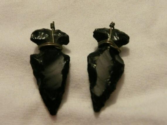 Obsidian Arrowhead charms
