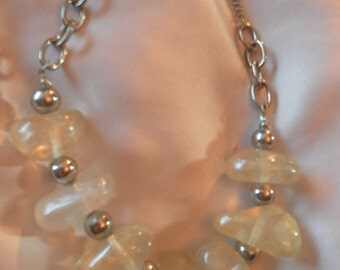 chunky large beaded handcrafted necklace