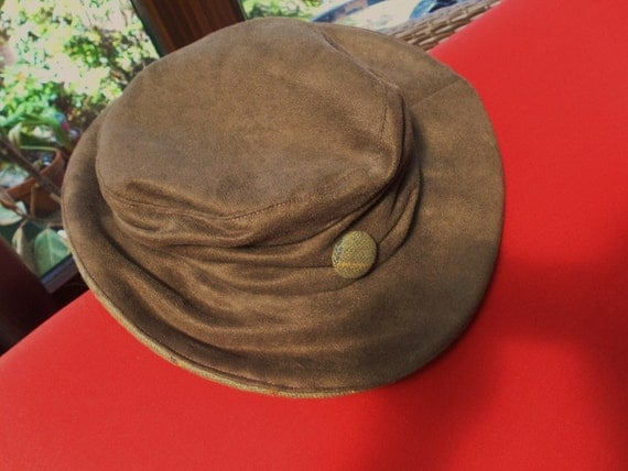 lovely faux suede good quality ladies hat