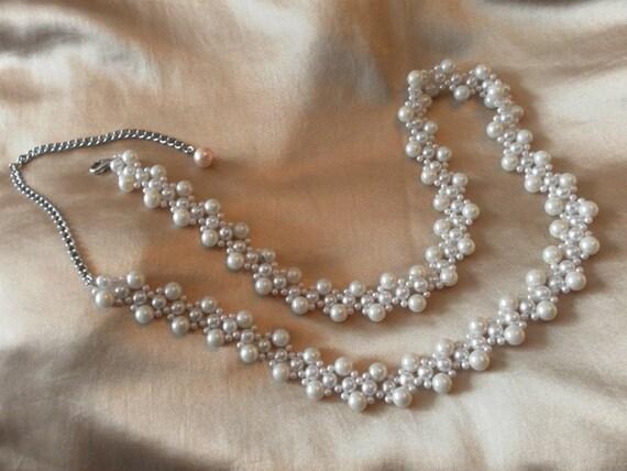 beautiful long deep pearl belt  - free size