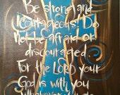 16x20 - Joshua 1:9