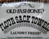 2 Vintage Flour Sack Towels new in bag
