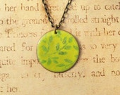 Climbing Ivy Hand Torched Enamel Necklace