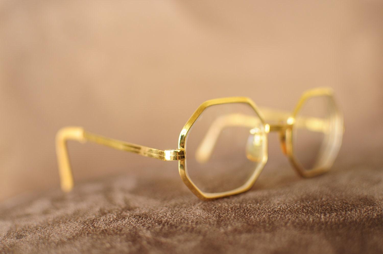 boho chic gold frame glasses zoom