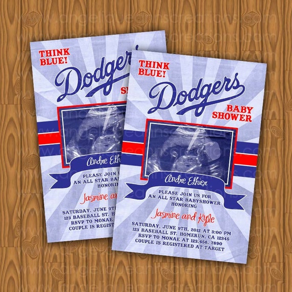 to dodgers baby shower invitations all star diy printable on etsy