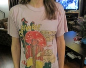 purple 80s ALF taco stand shirt , size large (& long)