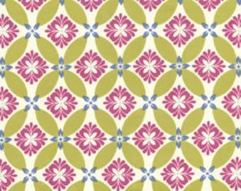 SALE Secret Garden, Modern Meadow in Green Tea - Sandi Henderson for Michael Miller fabrics