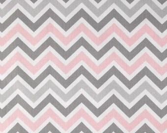 Zoom Zoom Chevron in Bella Pink - Premier Prints Home Decor