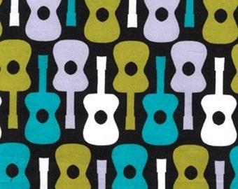 Groovy Guitar in Lagoon - Michael Miller fabric