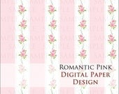 INSTANT DOWNLOAD - Romantic Pink - Digital paper for scrapbooking & crafts