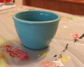 Vintage FiestaWare Number 2 Mixing Bowl-Turquoise Collectible